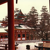 The Heian Jingu (Shrine) in Kyoto. Very, very red.