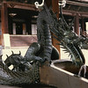 This dragon fountain provides clean water on the grounds of Higashi Hongan-ji, in central Kyoto. The place must be an entire city block.