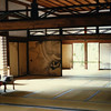 Inside Ryoan-ji, one of the most famous temples in the world. Its landscape garden gets a lot of well-deserved attention. The interiors, too, direct the mind inward yet also encourage expansion via carefully defined spaces leading the eye outward.