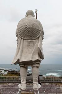 La statue géante de Kobo Daïshi, près du cap Muroto, Île de Shikoku, 2014.