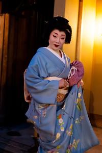 A Gion, le quartier des geishas, Kyoto, 2014.