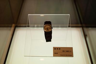Le 6 août 1945, à 8h15, le temps s'est arrêté à Hiroshima. Musée du Mémorial pour la Paix, Hiroshima, 2014.