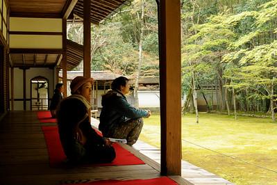 Le temps de la méditation, Kyoto, 2014.