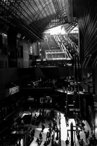Gare de Kyoto, avril 2014.