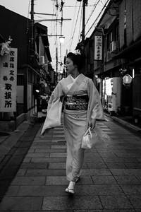 A Kyoto, Gion, le quartier des geishas, 2014.