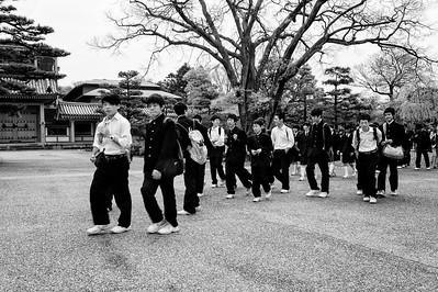 Collégiens, Kyoto, 2014.