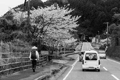Pélerin, Île de Shikoku, 2014.