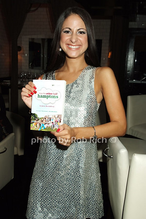 "Jasmin Rosemberg holding copy of ""How the Other Half Hamptons"" photo by Rob Rich © 2008 516-676-3939 robwayne1@aol.com"
