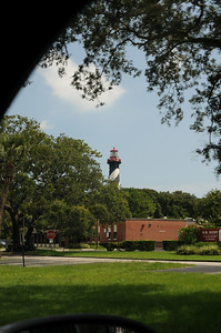 Driving down in St Augustine.  This is as close as we got to the lighthouse.  We were hungry.