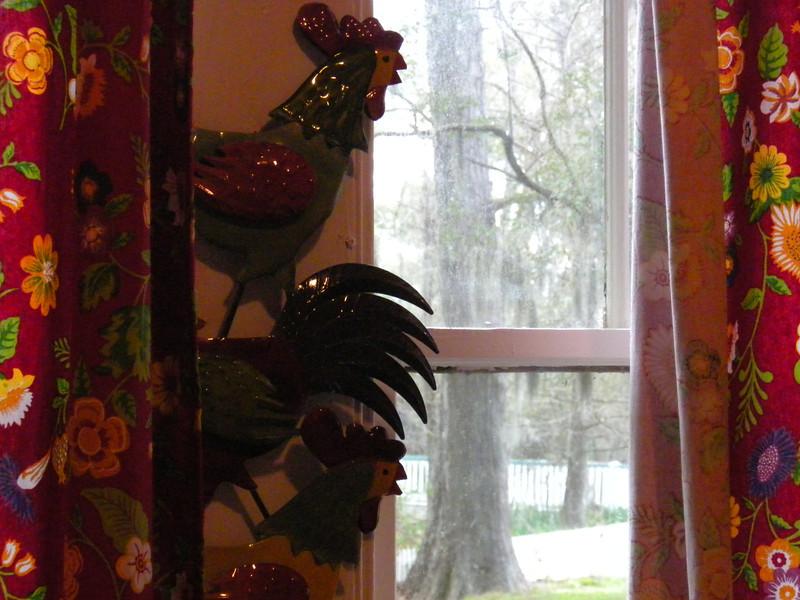 Coco House kitchen windows.