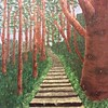 Wooded stairs