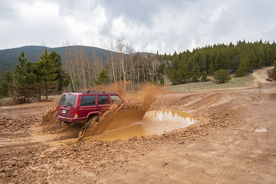 Jeep in the Mud on Yankee Hill Trail