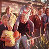 Jeff on left with arrow playing with cousins in CA. Nancy and Chuck on right. Chuck's brother Bill and his wife, Betty behind them.