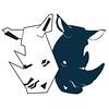 Personal Logo – Two rhinos.