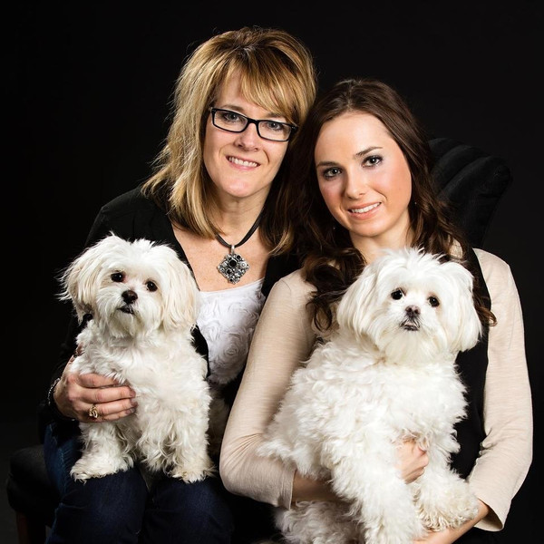 Nicole and I with our dogs, Penny and Nicole. Portraits we did for our Jenuine Creations, LLC website.