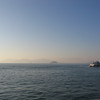 Alcatraz in the distance, and another ferry headed north