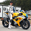Michael Jordan Team Suzuki rider Geoff May on my bike.