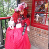 "This is the greeter at the <a href=""http://jeromesfinest.com/"">The House of Joy</a>. Make sure you visit and say hi to Mary!  She is one very sweet lady and she makes the coolest decorated mirrors.  I got some great Bettie Page pinups there."