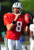 August 6, 2010: Cortland, NY: USA:  New York Jets quarterback Mark Brunell (8) during training camp at SUNY Cortland. Photo credit-Rich Barnes