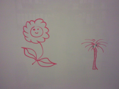 Not jewellery art, but from my white board at work!