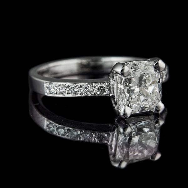 Madison (version 2)  Cushion cut diamond instead of the princess cut diamond engagement ring