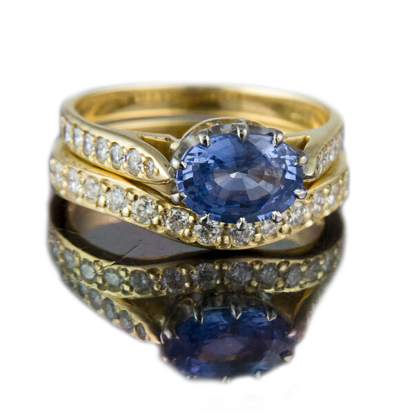 """""""Curved wedding ring""""<br /> <br /> A great example of a curved wedding ring designed to fit around the client's engagement ring"""