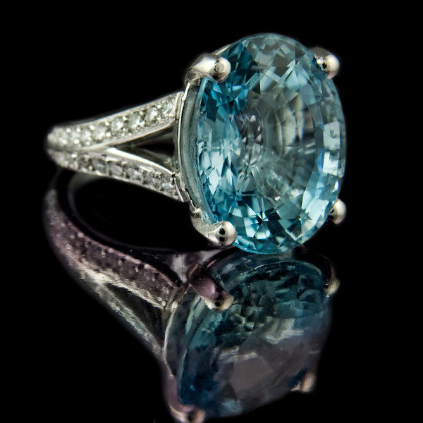 """Nemo"" oval aquamarine engagement ring."