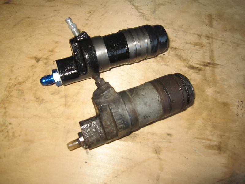 Old versus new clutch slave cylinder