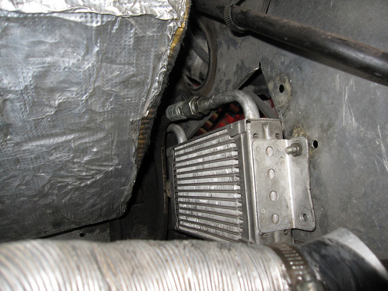 Original oil cooler mounting.