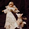 """Blessed Be All Creatures"" White Woodland Angel with Animals"