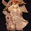 """In Wind and Snow Wonder Does Grow"" White Woodland Angel"