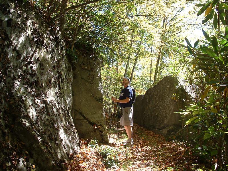 Examining lichen and rock tripe.