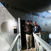 Museum Director/Curator, Mrs. Margaret O`Shaughnessy sith Jimmy Buffett during his visit to the museum, September 2008.