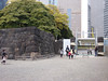 Entry way to Hamarikyu gardens.  There used to be a gate house here that was destroyed in one of many earthquakes.
