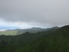 Looking along the Koolau Mountain summit towards downtown Honolulu