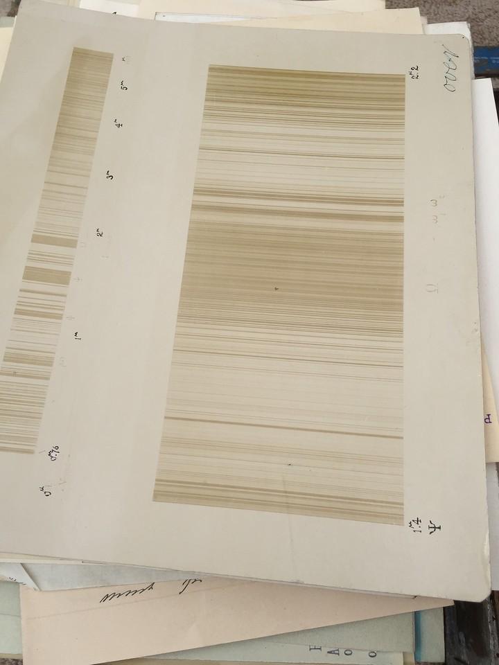 A photographic spectrum also was found.