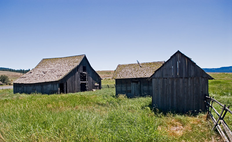 The barn with outbuildings.  Lots of hard work is still represented.