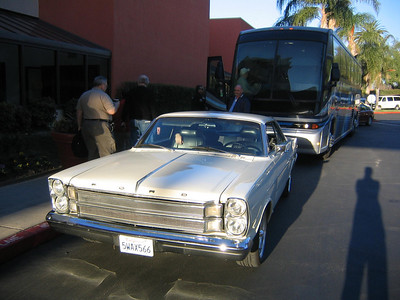 CLASSIC ESCORT -- A John Force Racing rep will soon be escorting AARWBA members to HQ in this sweet & clean 1965 Galaxie.