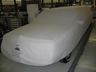 UNDERCOVER -- Lincoln limo under wraps.