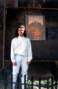 This was taken outside the DOOM II Launch Event in New York City at the Limelight.  I believe that's a mullet there.