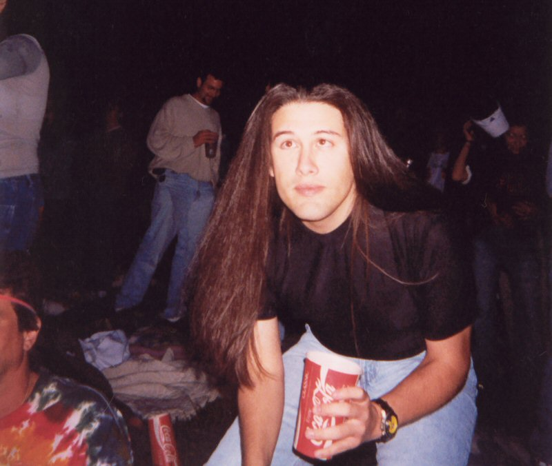 Here I am at a concert during the Ion Storm days - most of the company went together to see Lenny Kravitz.