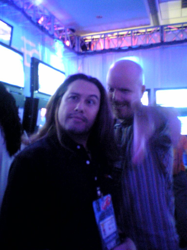 Me and Tom at the Midway booth at E3 (2005)