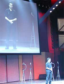 This is me on stage at Nokia's press event at E3 2003 where I'm pimping the N-Gage.