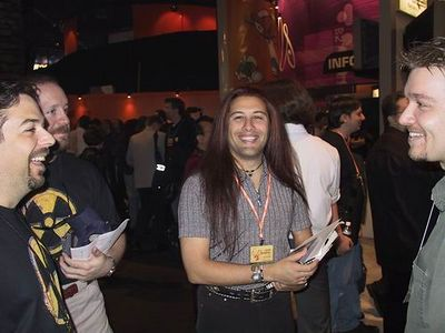 Scott Miller, me and Chris Rhinerhart at E3 (1999)