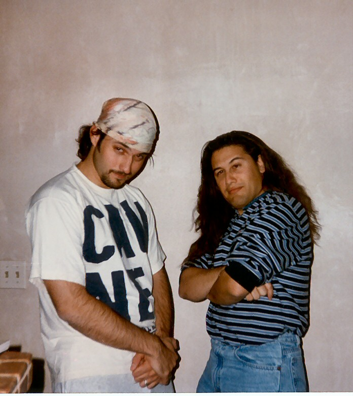 Me and Robert Rodriguez at his house in Austin (1997).