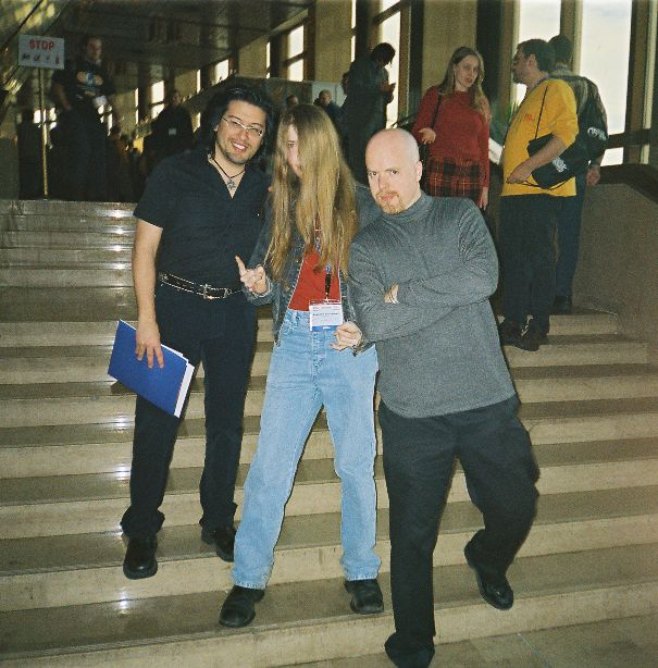 Me, PinWizz and Tom at the 2004 KRI Conference in Moscow.