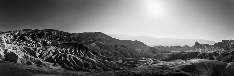Zabriskie Point, east of Death Valley in California, US.