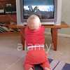 TA17.18 m581 / Choice 4 of 7 / A2PCG6 Young child in front of television tv. Image shot 2006. Exact date unknown.