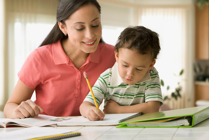m230 / Fig 6.11 / We updated this concept in Life Span with this image from the DAL.  Hispanic mother helping son do homework