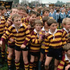 M054 / TA1.31a / This is the pick-up that we are trying to update. <br /> <br /> June 1986, Wellington, North Island, New Zealand --- Young rugby players from the nearby towns gather at the rugby field before the All Blacks rugby team plays a game. --- Image by © Kevin Fleming/CORBIS